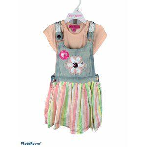 Girl's Betsey Johnson sequin overall jumper size